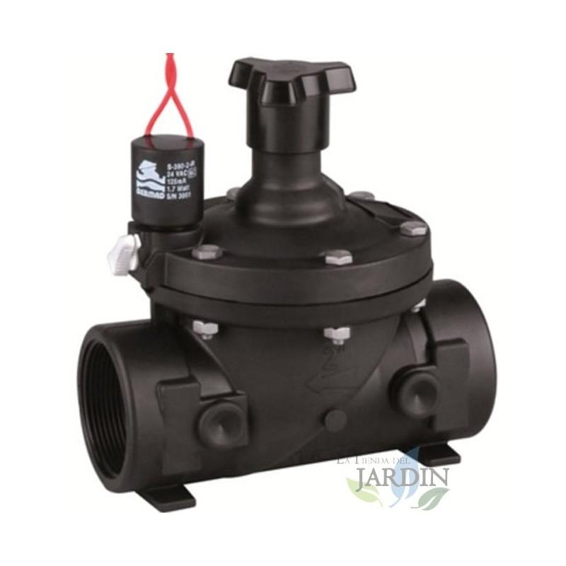 ELECTROVALVULA 2 24V Bermad con regulador de caudal serie 200 uso residencial y agr/ícola Funciona con programadores de riego el/éctricos