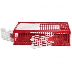 Jaula plástico para transporte de aves 95x57x29 cm