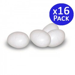 Plastic chicken eggs. Pack 16 units