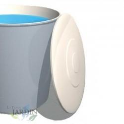 Polyester tank lid 162 cm, 2000 liters circular fiberglass