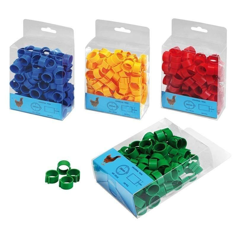 Plastic rings for chickens. Pack 100 units