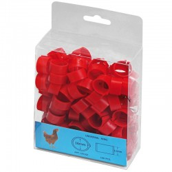 Plastic red rings for chickens. Pack 100 units