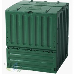 Composteur en polyéthylène 600 litres 80x80x95 cm