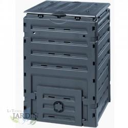 Compostadora compacta 300 litros 60x60x90 cm