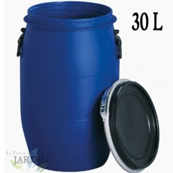 Macerated barrel 30 liters food polyethylene. Multifunctional use for agriculture, industry and transportation
