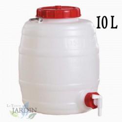 Food polyethylene barrel 10 liters for liquids and beverages