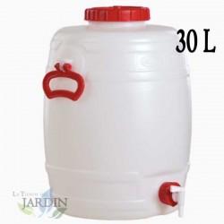 Barril de polietileno alimentario 30 litros para liquidos y bebidas