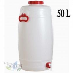 Food-grade polyethylene barrel 50 liters for liquids and beverages