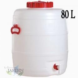 Food-grade polyethylene barrel 80 liters for liquids and beverages