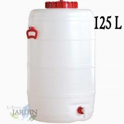 125 liter food polyethylene barrel for liquids and beverages