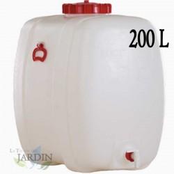 Food polyethylene barrel 200 liters for liquids and beverages