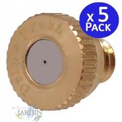 Toberas de latón 0,3mm nebulización. 5 unidades