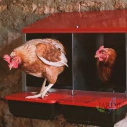 Ponedero gallinas interior 3 zonas 78x45x48 cm
