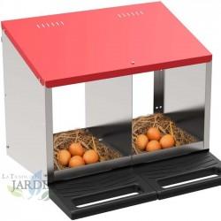 Nid à l'intérieur de poules de 2 départements 52x45x46 cm