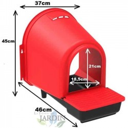 Ponedero gallinas interior 46x37x45 cm, modelo confort