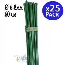 Tutor de Bambú plastificado 60 cm, 6-8 mm diámetro. 25 unidades