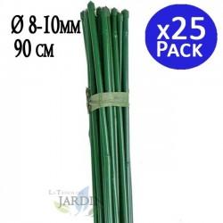 Tutor de Bambú plastificado 90 cm, 8-10 mm diámetro. 25 unidades