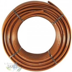 Self-compensating tube 16mm to 33cm separation by dripper, brown 100 meters