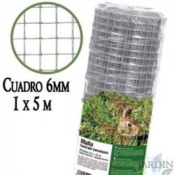 Metal mesh, 6mm frame. Galvanized fence 1 x 5 meters