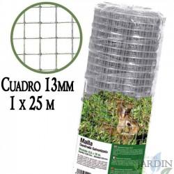 Metal mesh, box 13mm. Fence galvanized 1 x 25 metres