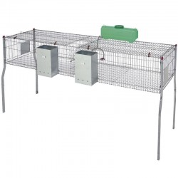 Penta 4 cage for rabbits equipped with hoppers and drinkers
