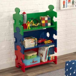 Puzzle shelf. Primary colors