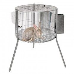 Male rabbits cylinder cage 69x44 cm