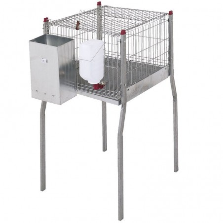 Rabbit cage with legs