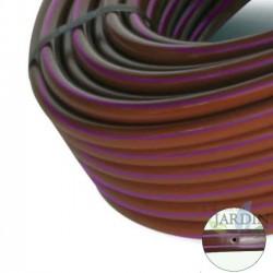 Tubo autocompensante 16mm a 33cm separación por gotero, marrón con bandas moradas 100 metros