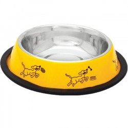 Comedero perros acero inoxidable goma antideslizante