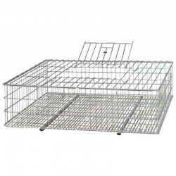 Metal animal transport cage 73x52x20 cm