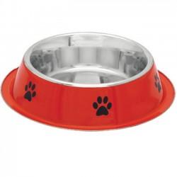Stainless steel non-slip rubber dog bowl