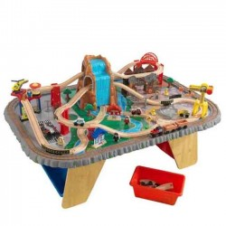 Waterfall junction wooden table train set