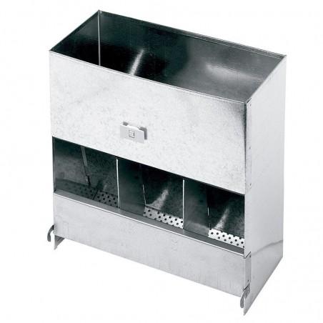 Feeder dispenser hopper food rabbits 3 holes
