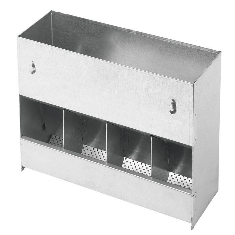 Feeder dispenser hopper food rabbits 4 holes