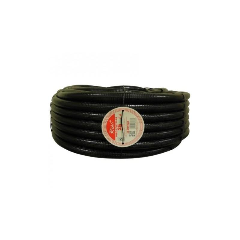 Tubería Corrugada 25mm, bobina 75 metros
