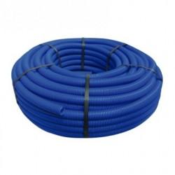 Tuyau ondulé bleu 19 mm, bobine 50 mètres