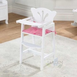 Wooden highchair for dolls