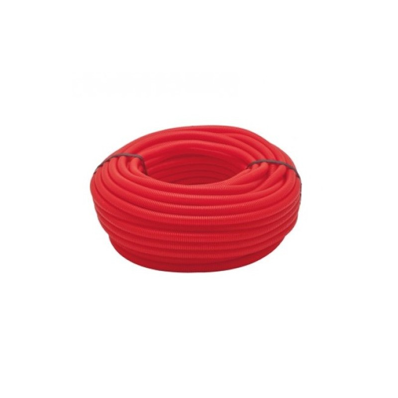 16mm red corrugated pipe, coil 50 meters