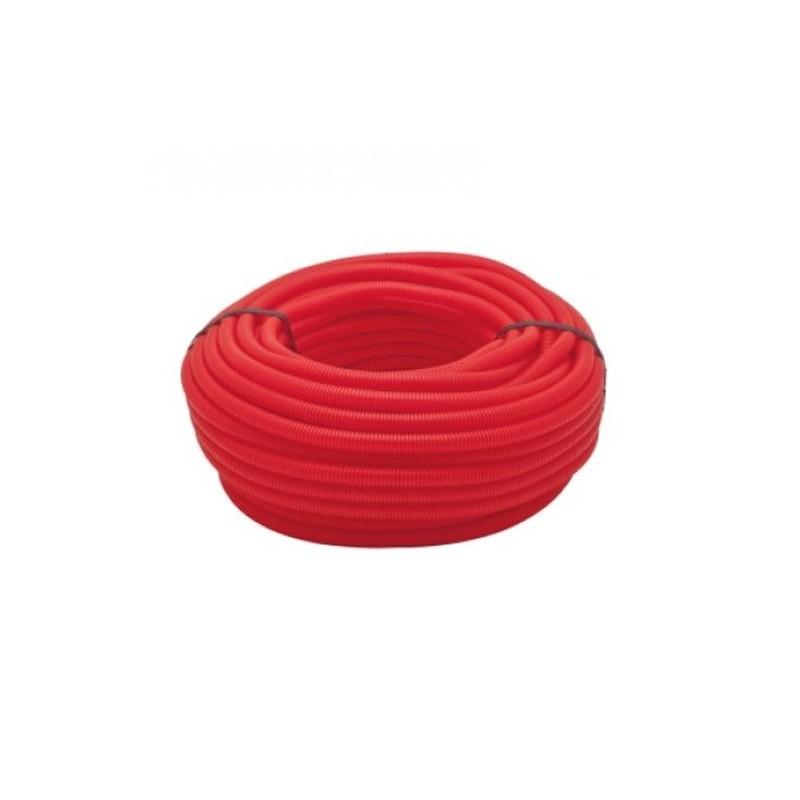 Tubería Corrugada rojo 13mm, bobina 50 metros