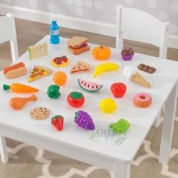 Set de 30 piezas de comida de juguete