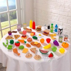 Set de 65 piezas de comida de juguete