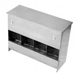 3-hole rabbit food dispenser hopper feeder with lid