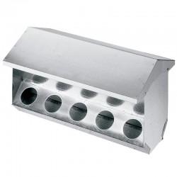 Rabbit feeder 10 holes 63x25x31 cm with lid