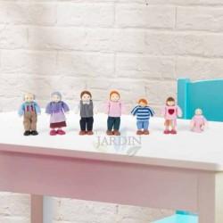 Familia de 7 muñecas