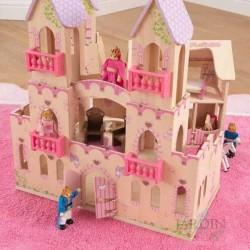 Casa de muñecas castillo de princesas de madera