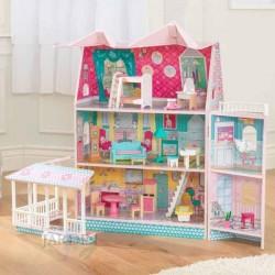 Wooden abbey dollhouse