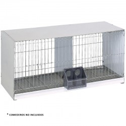 Galvanized sheet pigeon cage 2 departments