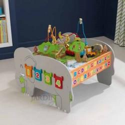Centro de actividades infantil de madera