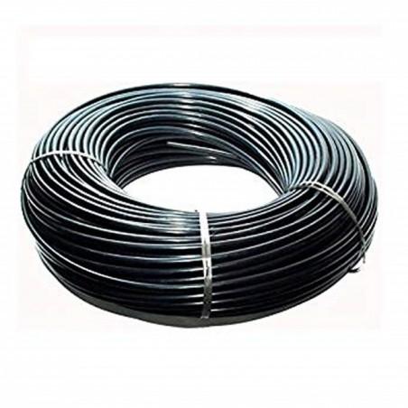 Microtubo flexible 3x4,5 mm negro. Bobina 200 mts